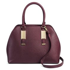 Women's Faux Leather Dome Handbag B