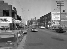 Detroit and Elmwood Avenue looking east along the north of Detroit from Elmwood Ave., 1965 Cleveland, Detroit, Ohio, Street View, Memories, Memoirs, Columbus Ohio, Souvenirs, Remember This