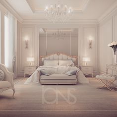Bedroom design by ions - private residence - UAE