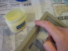 Using two coats of different colored paint and Vaseline for easy distressed look. So easy I had no idea!