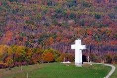 Bald Knob Cross - I live out in some of that beautiful background of Fall colors!
