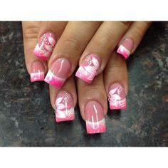 Fading pink and white by Pinky – Nail Art Gallery nailartgallery.na… by Nails … Fading pink and white de Pinky … Pink Tip Nails, White Tip Nails, Pink Nail Art, White Nail Art, Acrylic Nail Art, Fingernail Designs, Pink Nail Designs, Hawaiian Nails, Nagellack Design