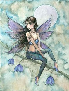 Love the flower incorporation and detail of the fairy, wings, shoes. Taste of Spring ~ Molly Harrison Amy Brown Fairies, Elves And Fairies, Fantasy Paintings, Fantasy Art, Dragons, Fairy Drawings, Fairy Tattoo Designs, Kobold, Fable