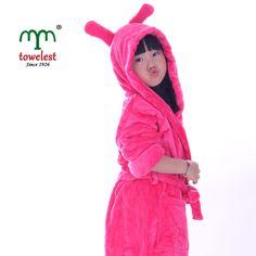 1PC MMY 100% Polyester Bath Robe Warm Housewear Pajamas Cartoon Hooded Bathrobes #MMY #Robe