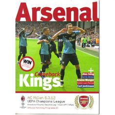 Arsenal v AC Milan 2011/2012 UEFA Champions League Football Programme Listing in the European Club Fixtures,Football (Soccer),Sports Programmes,Sport Memorabilia & Cards Category on eBid United Kingdom