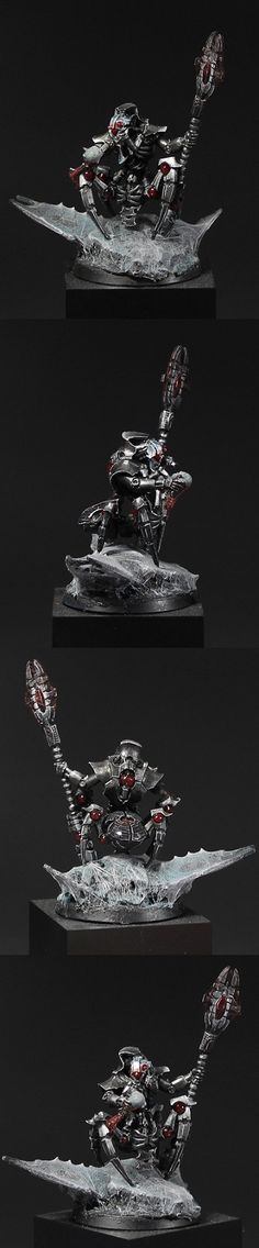 A simple gallery showcasing Warhammer art and miniatures. Warhammer 40k Necrons, Warhammer 40k Miniatures, Warhammer Tabletop, Sci Fi Miniatures, Starcraft, Mini Paintings, Paint Schemes, Tabletop Games, Miniture Things