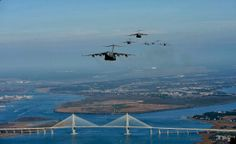 US Air Force photo by Tech. Sgt. Jeremy Lock -- C-17 formation over Charleston, SC December 18th 2008