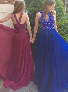 Prom Dress Beautiful, Elegant Jewel Sweep Train Royal Blue Prom Dress with Beading, Discover your dream prom dress. Our collection features affordable prom dresses, chiffon prom gowns, sexy formal gowns and more. Find your 2020 prom dress Graduation Dresses Long, Blue Homecoming Dresses, Royal Blue Prom Dresses, Open Back Prom Dresses, Prom Dresses For Teens, Prom Dresses 2017, Formal Dresses For Weddings, A Line Prom Dresses, Prom Party Dresses