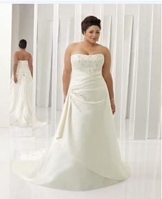 full figure wedding dresses | ... here come the full figured brides in their plus size wedding dresses