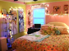 girly anime room. I like it but I think I can do better, huh Jason? You know what forget the girly!