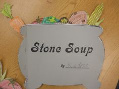 We have been reading different versions of Stone Soup and today we finally got to make and eat our own stone soup(instead of a Than...