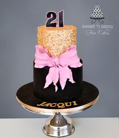 21 today - cake by Sandy - Sweet 'n Sassy