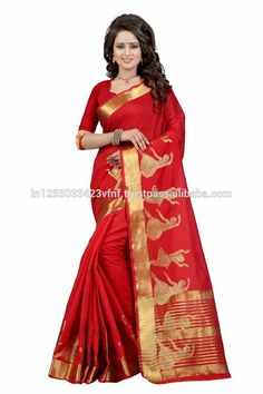 b2555d09c Raj Doll kanjivaram cotton Woven Designer Saree for Women