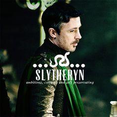 "Game of Thrones as Hogwarts founders - Petyr Baelish ""Littlefinger"" as Slytherin"