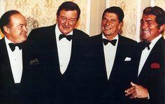 Bob Hope, John Wayne, Ronald Reagan, and Dean Martin