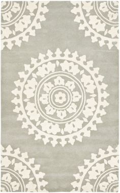 RugStudio presents Safavieh Soho SOH732K Light Grey / Ivory Hand-Tufted, Good Quality Area Rug