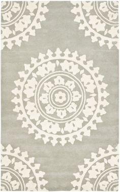 RugStudio presents Safavieh Soho SOH732K Light Grey / Ivory Hand-Tufted, Good Quality Area Rug