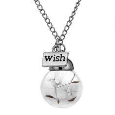 Een persoonlijke favoriet uit mijn Etsy shop https://www.etsy.com/listing/287597235/terrarium-necklace-dandelion-necklace