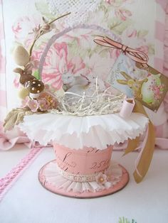 Basket from Terri by sweetnshabbyroses, via Flickr
