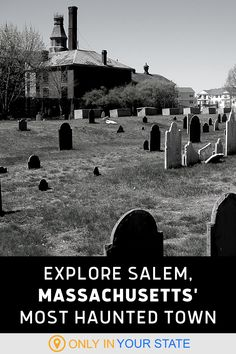 Salem, famous for its historic witch trials, may be the most haunted small town in Massachusetts. Take a day trip or weekend getaway and explore spooky local attractions like haunted mansions, the house featured in Hocus Pocus, abandoned jails, museums, cemeteries, and more. You may just spot a ghost! Haunted Towns, Most Haunted, Haunted Mansion, Haunted Places, Witch Trials, Family Road Trips, Witch House, Local Attractions, 50 States