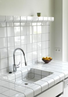 D-tile is a system which allows any space or object to be completely covered with tiles. This is possible because the D-tile collection consists of flat-, construction-, and function-tiles. Interior Exterior, Home Interior, Kitchen Interior, Kitchen Design, Interior Design, Kitchen Gifts, Kitchen And Bath, Handmade Home Decor, Cheap Home Decor