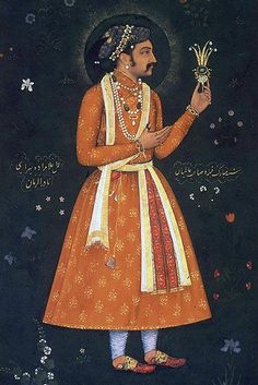 Mughal Emperor Shahjahan built the magnificent RedFort in Delhi, this portrait was painted by Abul Hassan in c 1616 Mughal Miniature Paintings, Mughal Paintings, Indian Paintings, Traditional Paintings, Traditional Art, Asia, India Culture, Mughal Empire, India Art