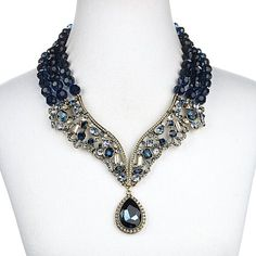 "Heidi Daus ""Female Intuition"" 3-Strand Drop Necklace"