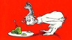 """""""I do not like them, Sam-I-Am."""" Dr. Seuss' classic Green Eggs and Ham won Best Recording For Children in 1966"""