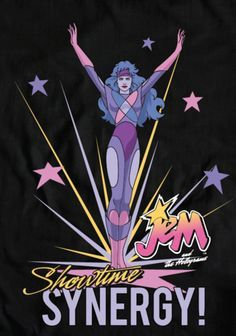 "spacebats: "" hezaakun: "" It's Showtime Synergy! Best 80s Cartoons, 80s Cartoon Shows, Jem And The Holograms, 1980s Childhood, Childhood Memories, Jem Et Les Hologrammes, 80s Characters, Dreamworks, Retro"