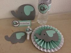 Photo (76) decoraciones de elefantes para baby shower by Denise Scraps