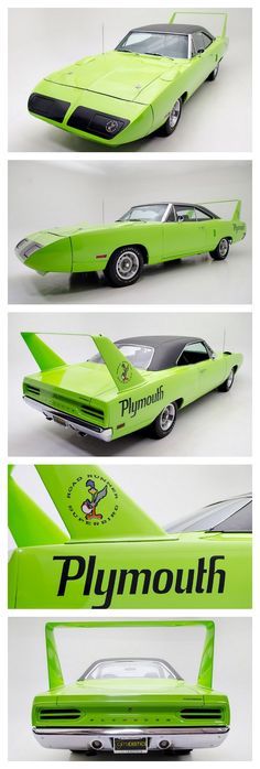 Plymouth Road Runner Superbird #carwrapping #wrap #vehicle #Inspiration #vehiclewrap #Autobeklebung #Autofolierung #Folie #Design #RoadRunner #Plymouth #green #grün