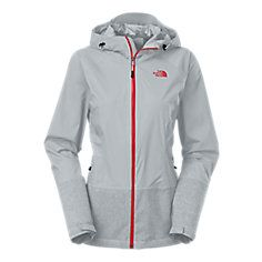 The North Face - Womens Bashie Stretch Rainjacket {Coral & Grey} - Good reviews! But seems like such a new product!