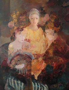 Mary Antony, by Françoise de Felice Paintings I Love, Beautiful Paintings, Art And Illustration, Figure Painting, Painting & Drawing, Art Amour, Figurative Kunst, Kunst Online, Watercolor Portraits