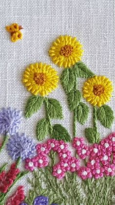 Wonderful Ribbon Embroidery Flowers by Hand Ideas. Enchanting Ribbon Embroidery Flowers by Hand Ideas. Crewel Embroidery Kits, Hand Embroidery Tutorial, Embroidery Flowers Pattern, Hardanger Embroidery, Simple Embroidery, Learn Embroidery, Embroidery Patterns Free, Hand Embroidery Designs, Ribbon Embroidery