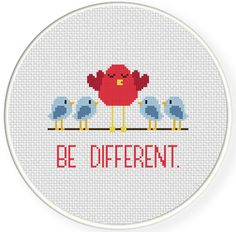 FREE for June 7th 2014 Only - Be Different Cross Stitch Pattern