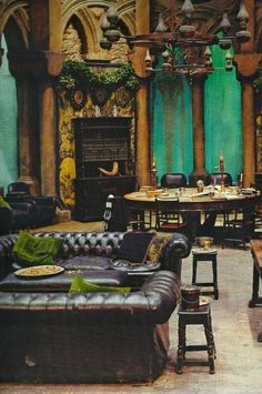 Slytherin's common room.