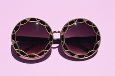 Oversized Round Metallic Sunglasses In Silver or Gold