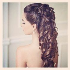 beautiful long pinned hair in curls. perfect for balls