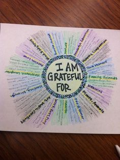 Thanksgiving or other study of gratitude.--Mandala of Gratitide- Great art therapy idea. Counseling Activities, Art Therapy Activities, Group Activities, Health Activities, Group Counseling, Social Work, Social Skills, Art Thérapeute, Therapy Tools