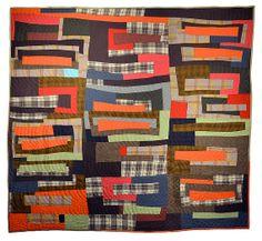 Modern Improv Wool Quilt van Daintytime op Etsy, $3000.00