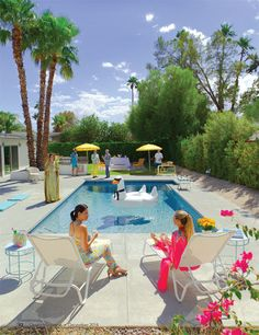 Kelly Golightly x Desert Magazine   Slim Aarons-inspired shoot with Palm Springs tastemakers