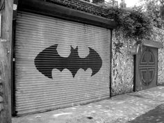 This would be awesome on your own garage door. To the bat cave!