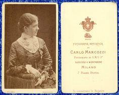 DONNA CDV 553 FOTO D EPOCA F.GABINETTO/CARTE DA VISITE-ALBUMINA-MARCOZZI-MILANO