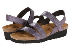 Naot Footwear Kayla Silver Snake Leather - Zappos.com Free Shipping BOTH Ways