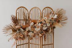 Boho Wedding, Floral Wedding, Rustic Wedding, Dream Wedding, Dried Flower Arrangements, Dried Flowers, Flower Decorations, Wedding Decorations, Floral Backdrop