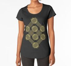 Frauen Premium T-Shirts Black And White Canvas, Line Art, Art Drawings, Canvas Prints, Tops, Women, Fashion, Round Collar Shirt, Geometry