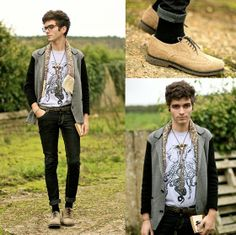Wholesale 7 Blazer, Cheap Monday Jeans, Geox Brogues, Endangered Cultures T Shirt, Givenchy Glasses