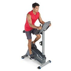 The Nautilus upright bike features the Dual Track multi LCD display console with goal tracking functionality enabling the user to set and track exercise goals of workout time, distance… Cardio Workout At Home, Best Cardio, Gym Workouts, At Home Workouts, Tabata Cardio, Basic Workout, Exercise Cardio, Workout Wear, Upright Exercise Bike