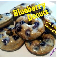 Preheat oven to 350.In a blender put 1 cup of old fashion oats, 3egg whites, 1scoop vanilla protein powder, 1/3 unsweetened apple sauce,1/4 cup unsweetened vanilla almond milk, 1 tsp baking powder blend  altogether in your blender. Then add 1/3 cup of blueberries stir them and do not blend them. Grease your donut pan (which you can find at Bed Bath and Beyond)  and poor equal amounts into each  donut hole.bake for 11-13 min.... meanwhile prepare your glaze.2.5 tbls of unsweetened vanilla…