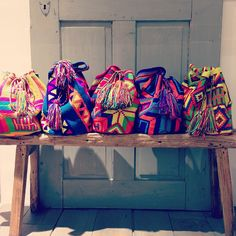 Chila Bags are one of a kind, hand made by women from the Wayuu tribe in Colombia. Oakley, Mochila Crochet, Diy Bags Purses, Summer Skin, Boho Bags, Textiles, Tapestry Crochet, Bag Sale, My Bags